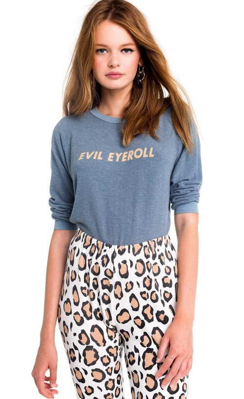 Wildfox Evil Eyeroll Junior Sweatshirt