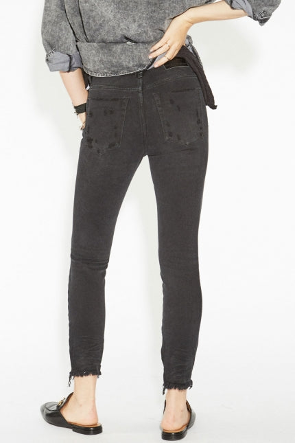 One Teaspoon Black Oak High Waist Freebirds Jeans