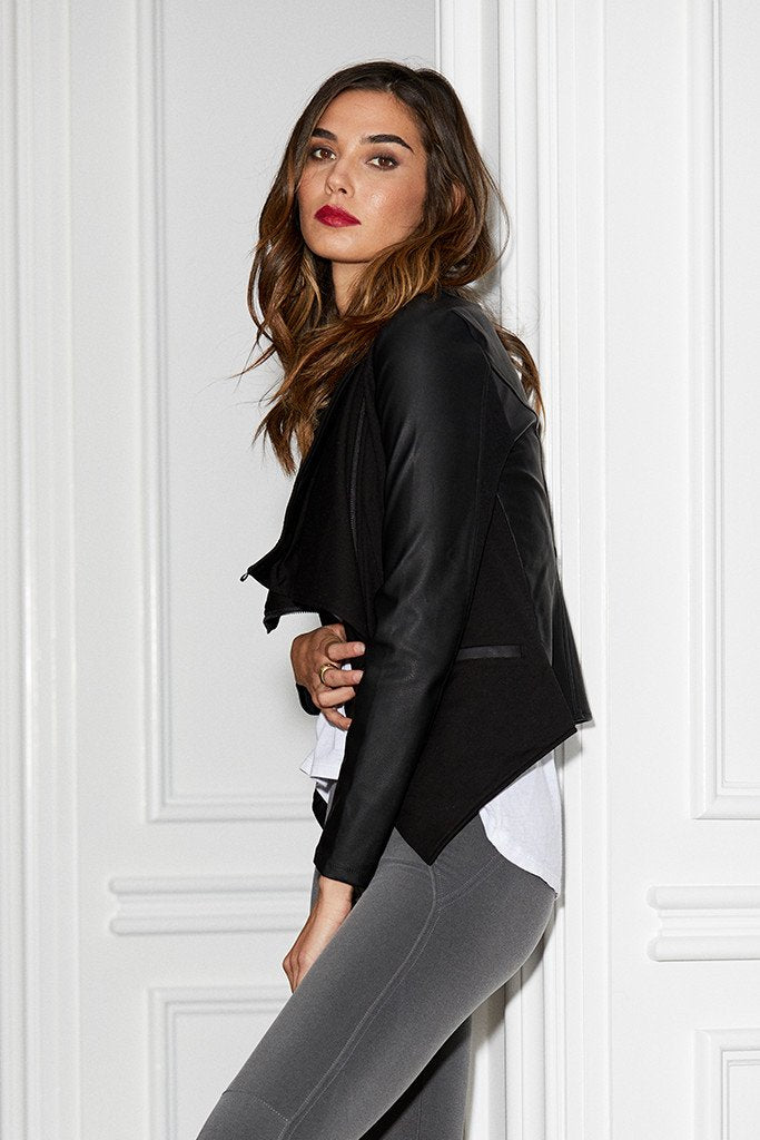 David Lerner Asymmetrical Draped Blazer