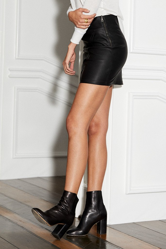 David Lerner Asymmetrical Wrap Skirt