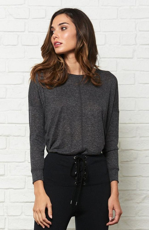 David Lerner High- Low Pullover Sweater