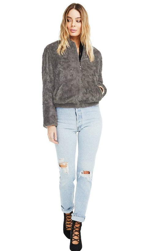 ASTR Danika Faux Fur Jacket