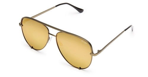 Quay X Desi Perkins High Key Sunglasses Army Green