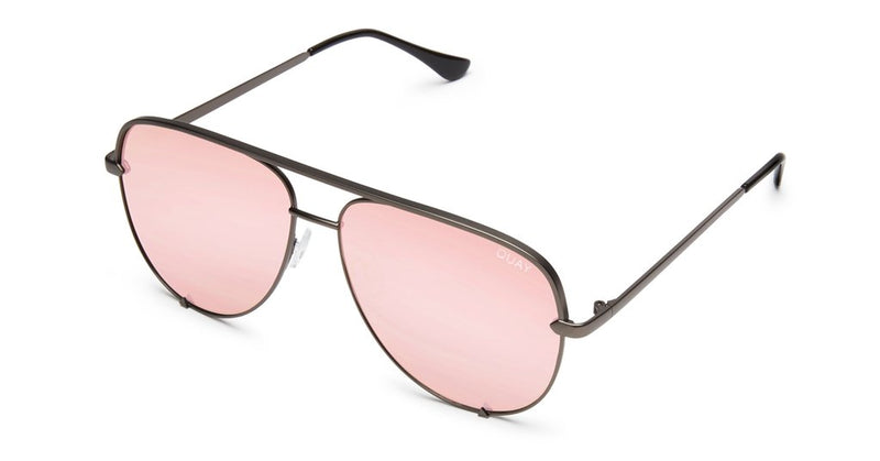 Quay X Desi Perkins High Key Sunglasses Rose