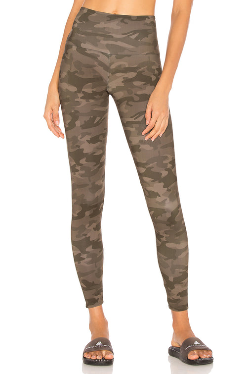 Onzie High Rise Green Camo Leggings