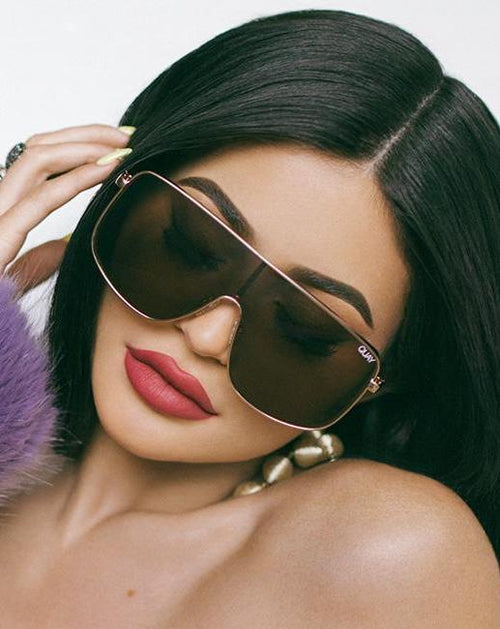 Quay X Kylie Unbothered Sunglasses Brown