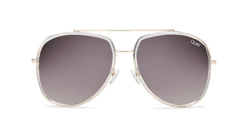 Quay Needing Fame Aviator Sunglasses Brown