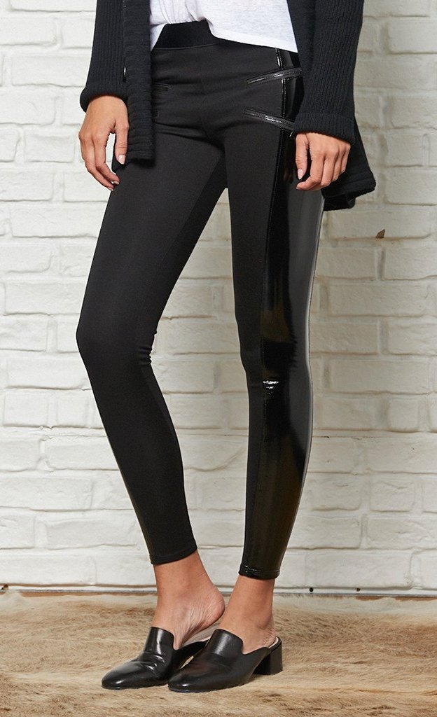 5335ccf7e60ad David Lerner Starburst Zip Combo Vinyl Leggings – Bliss Bandits