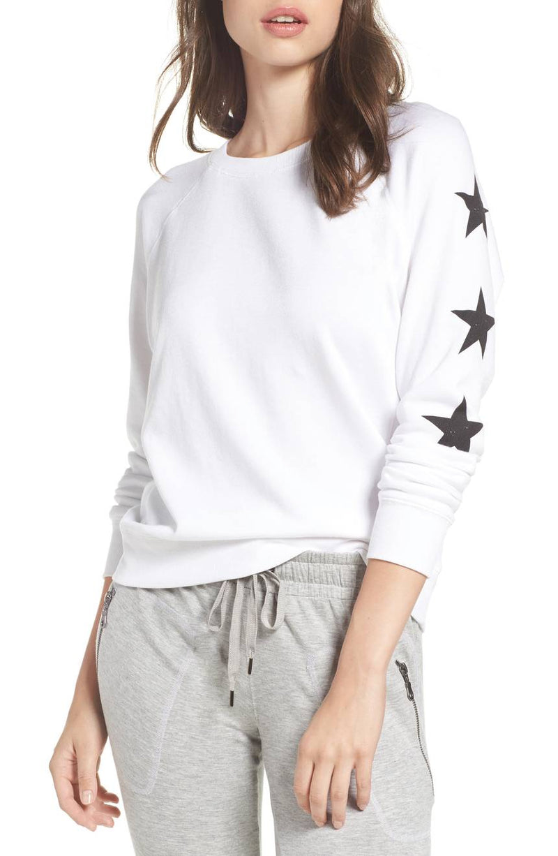 David Lerner Star French Terry Raglan Pullover Sweatshirt