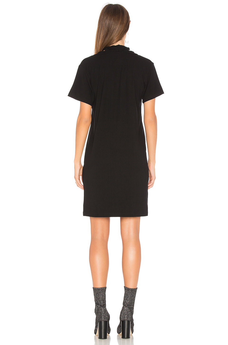 LNA Klassen Choker Dress Black