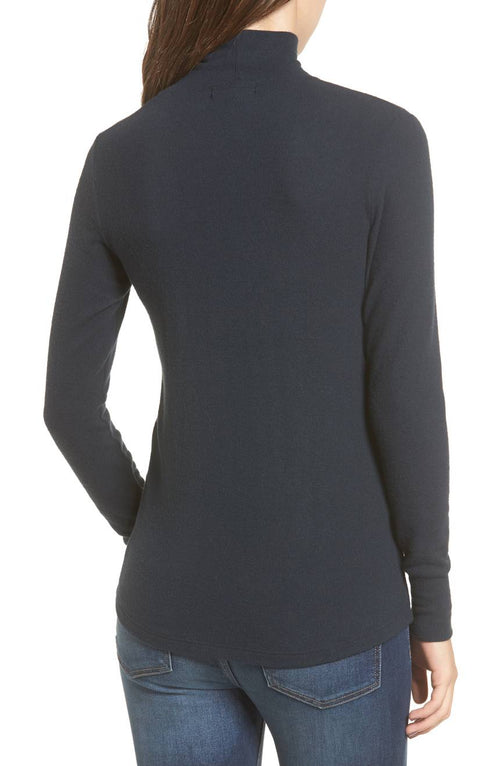 LNA Brushed Detached Turtleneck Long Sleeve Top