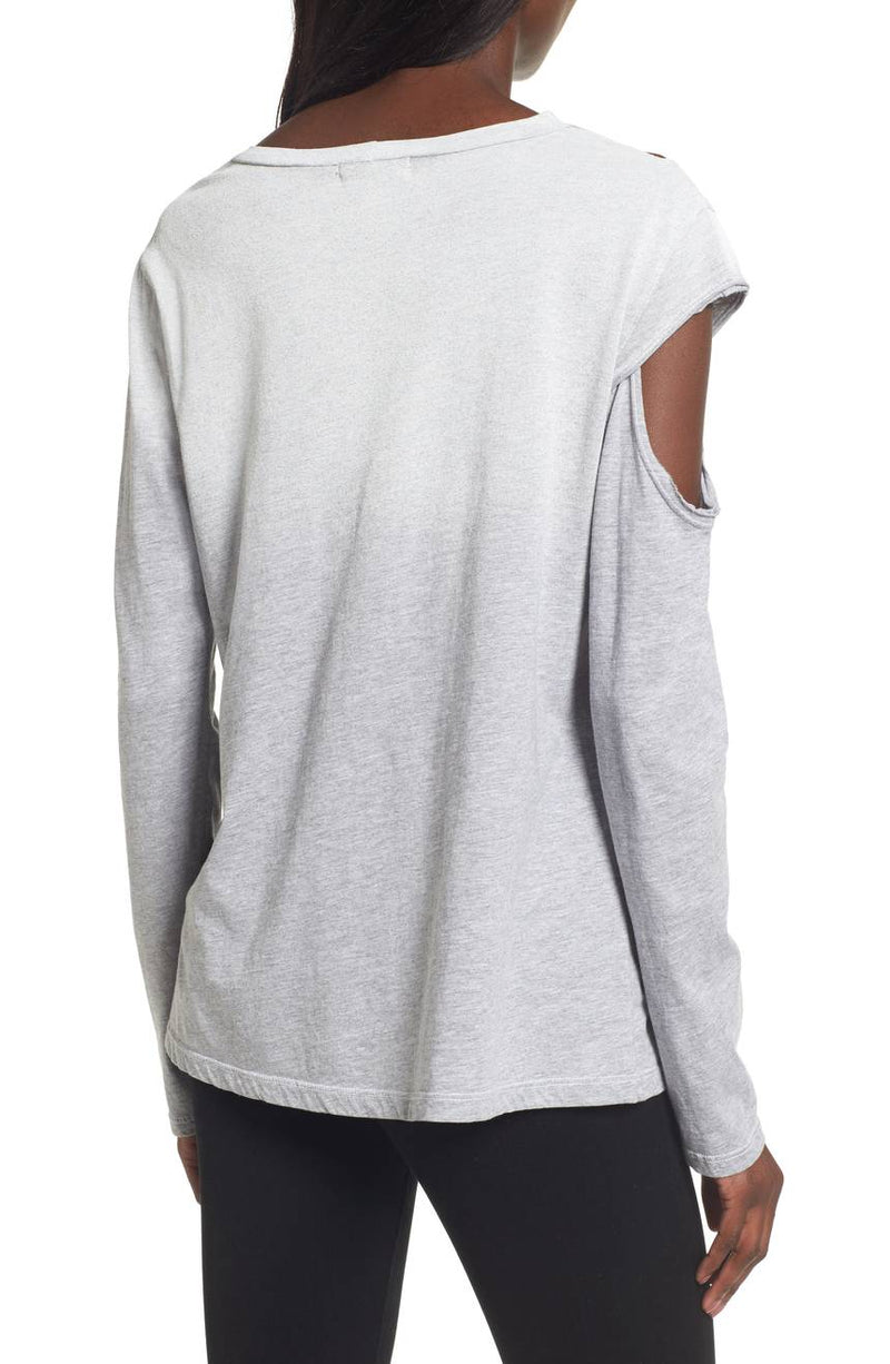 LNA Hamilton Asymmetrical Long Sleeve Top