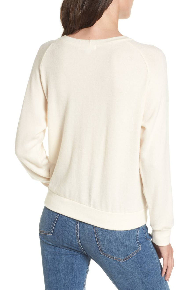 LNA Phased Brushed Cutout Sweater