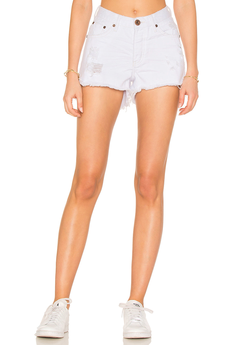 3cebab26e77 One Teaspoon White Beauty Bonita High Waist Denim Shorts – Bliss Bandits