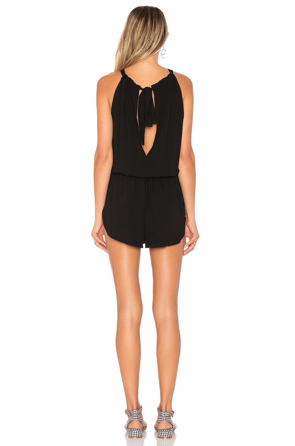 Indah Sherry Romper Black
