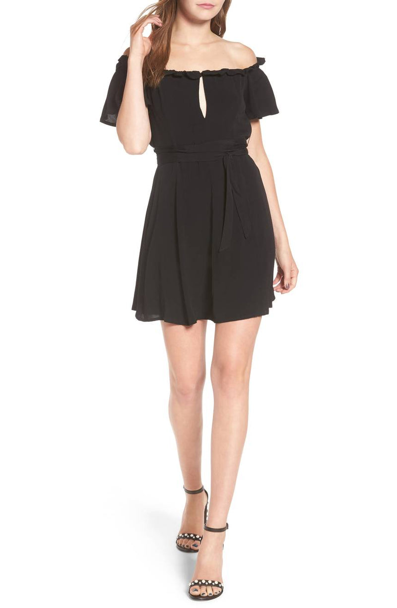 Privacy Please Deluth Off Shoulder Dress Black