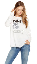 Chaser Wine Rocks Long Sleeve Top