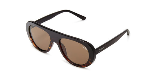 Quay Bold Move Sunglasses Black to Tortoise Fade