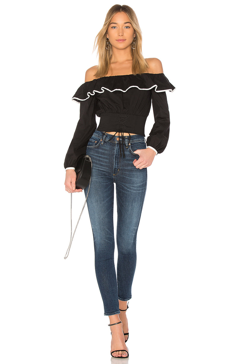 Lovers + Friends Bailey Off Shoulder Corset Top