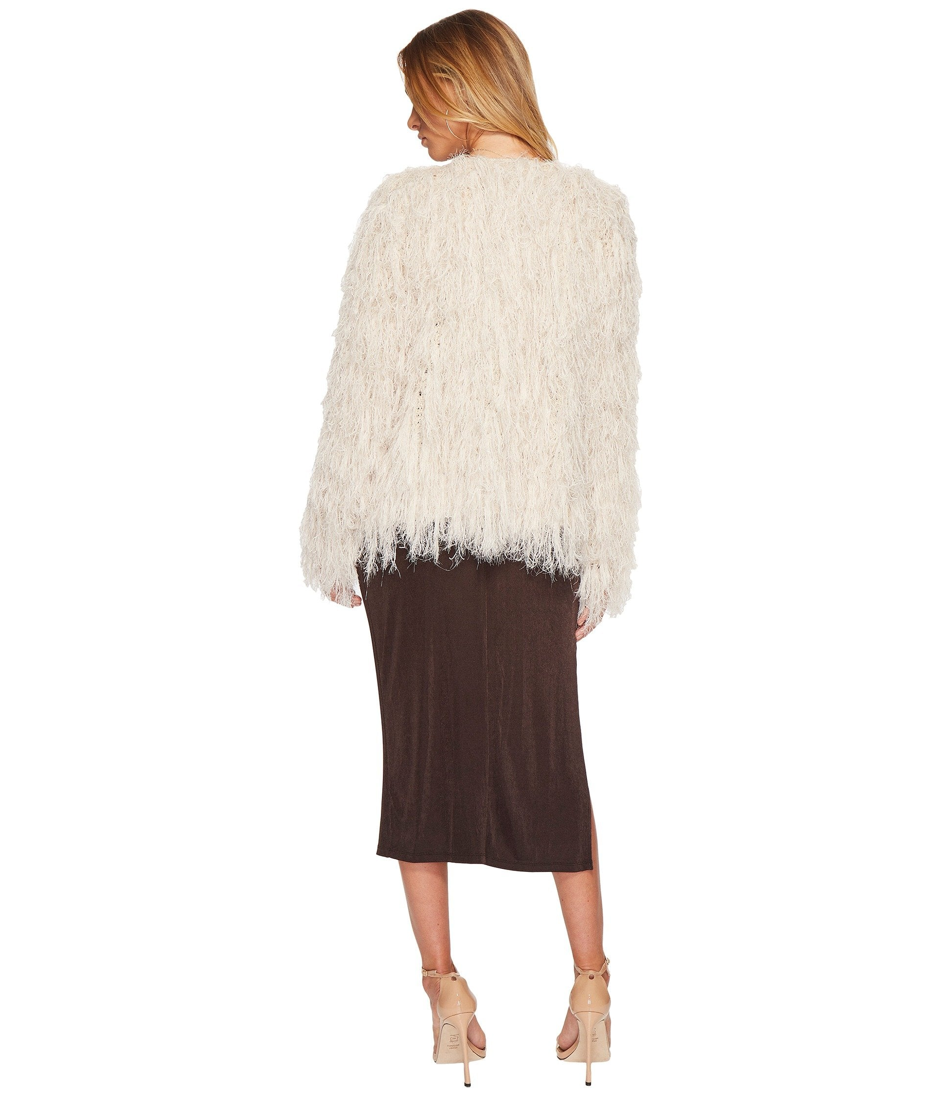 ASTR Sasha Shaggy Cardigan Sweater