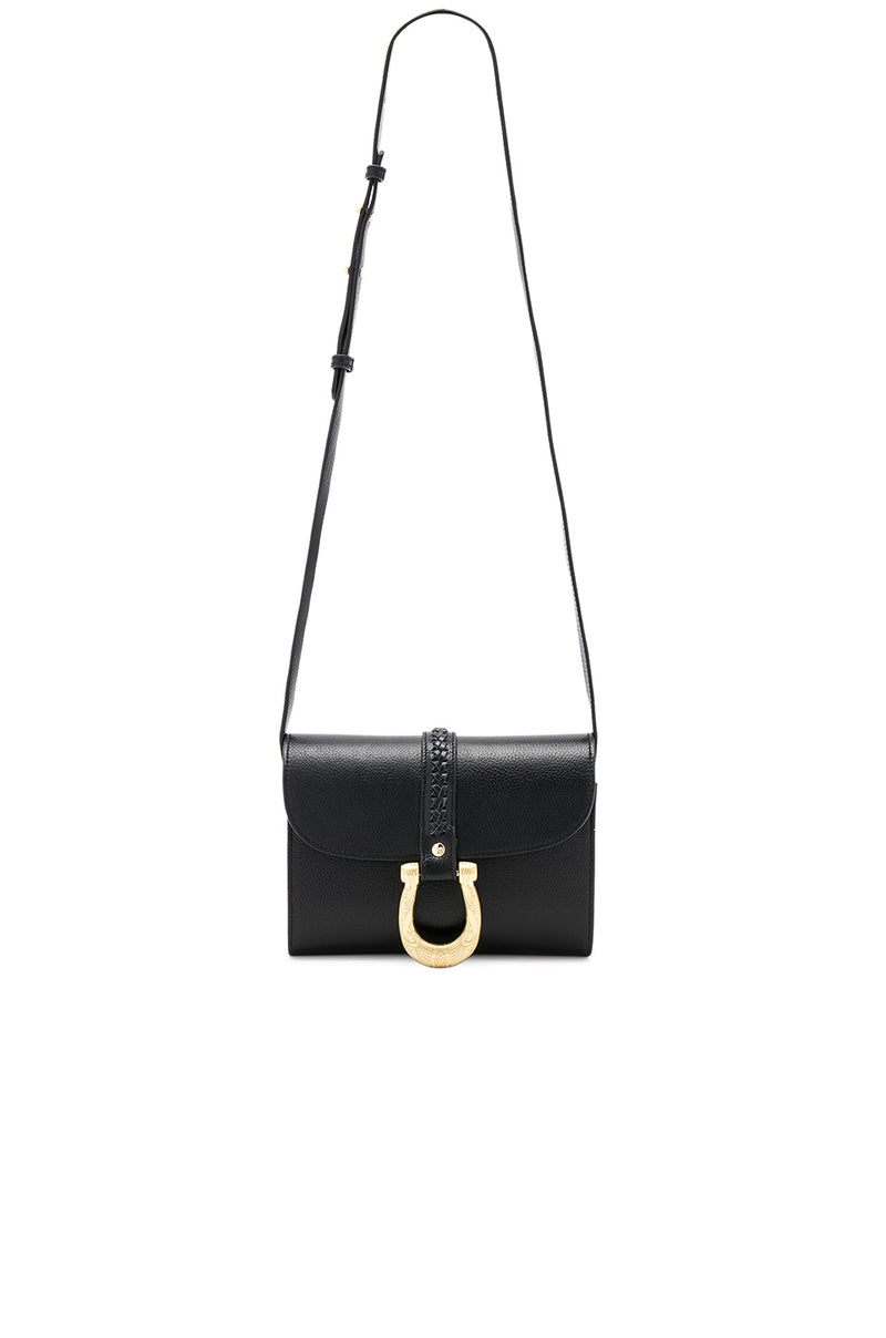 Sancia Maela Mini Black Leather Bag