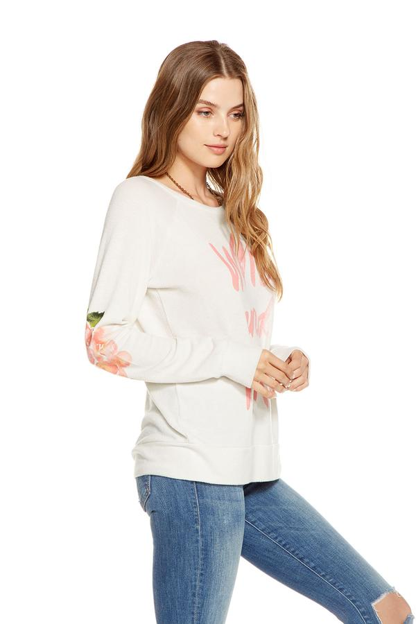 Chaser Wild and Free Love Knit Pullover Sweater