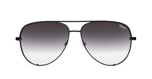 Quay X Desi Perkins High Key Mini Sunglasses Black Smoke