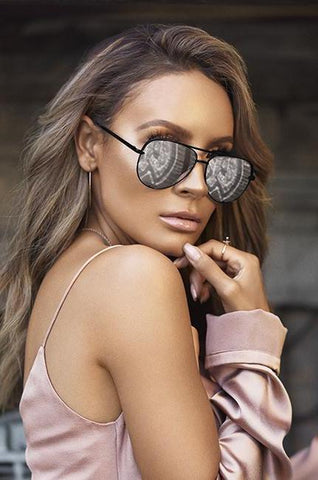 Quay Capricorn Black Pink Mirror Sunglasses