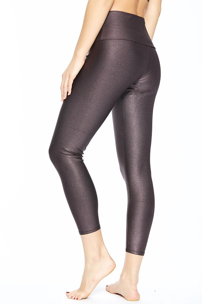 Onzie High Rise Basic Midi Legging Plum Sparks