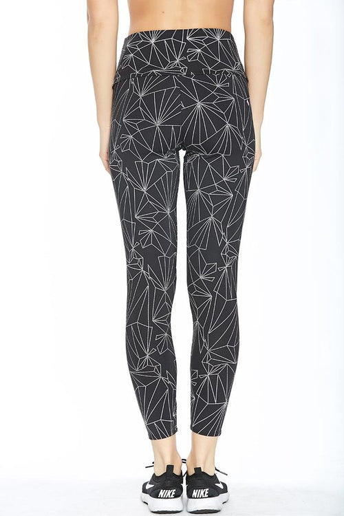 Onzie High Rise Midi Legging Black Reflective