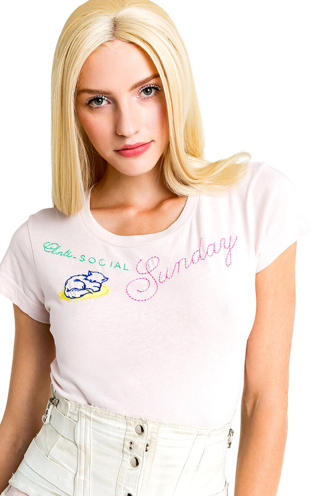 Wildfox No. 9 Sunday Tee Shirt