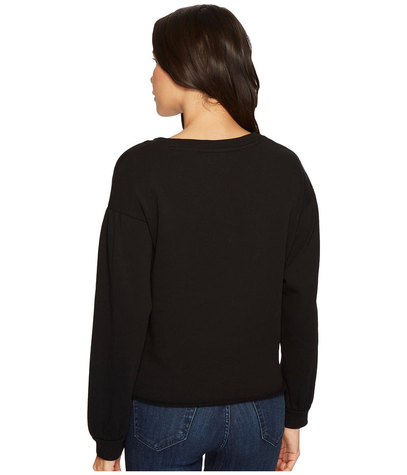 Blank NYC Laced Tied Up Long Sleeve Sweater