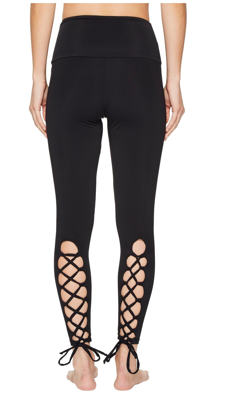 Onzie High Waist Laced Up Legging Black