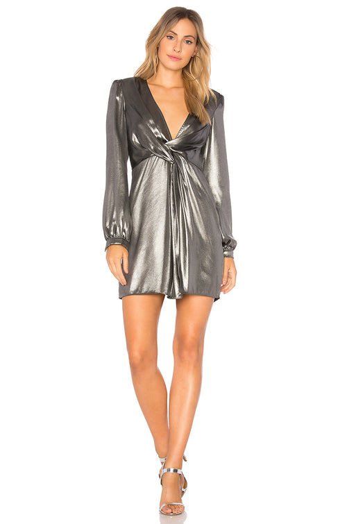 ASTR Dominique Metallic Dress