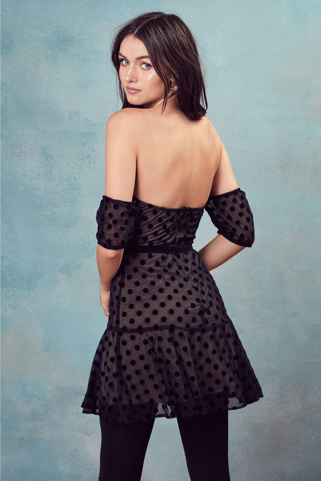 For Love and Lemons Dotty Strapless Dress