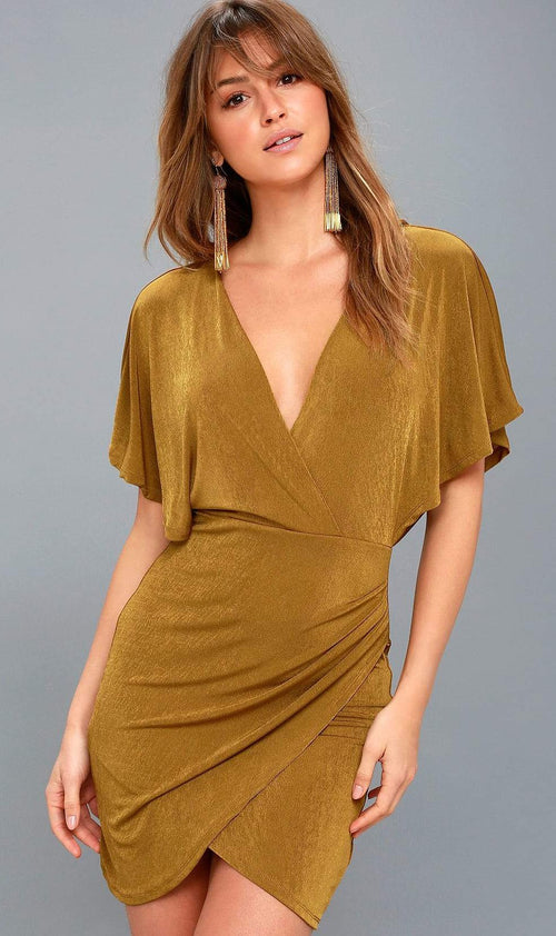 ASTR Haley Metallic Dress