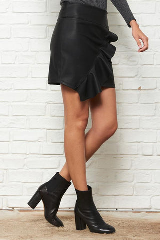 Free People Black Gingham Mini Skirt