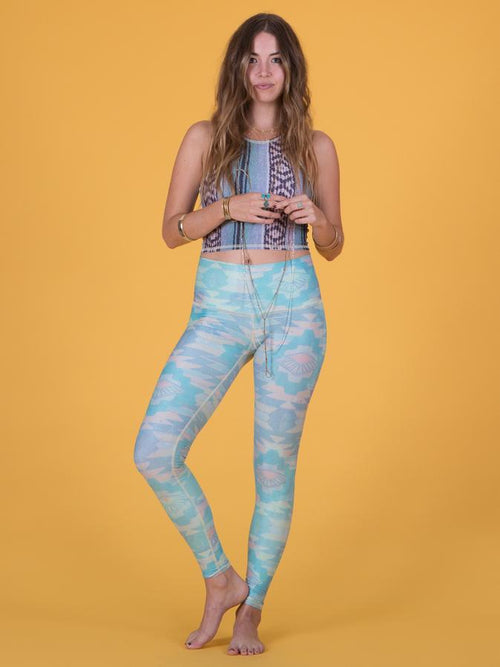 Teeki Southern Cross Blue Hot Pant Leggings