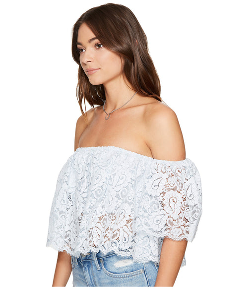 Lovers + Friends Bayside Off Shoulder Lace Top