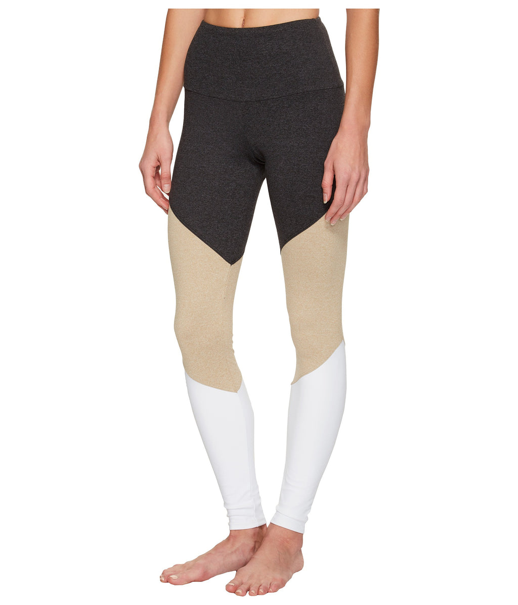 Onzie High Rise Track Legging Taupe Combo