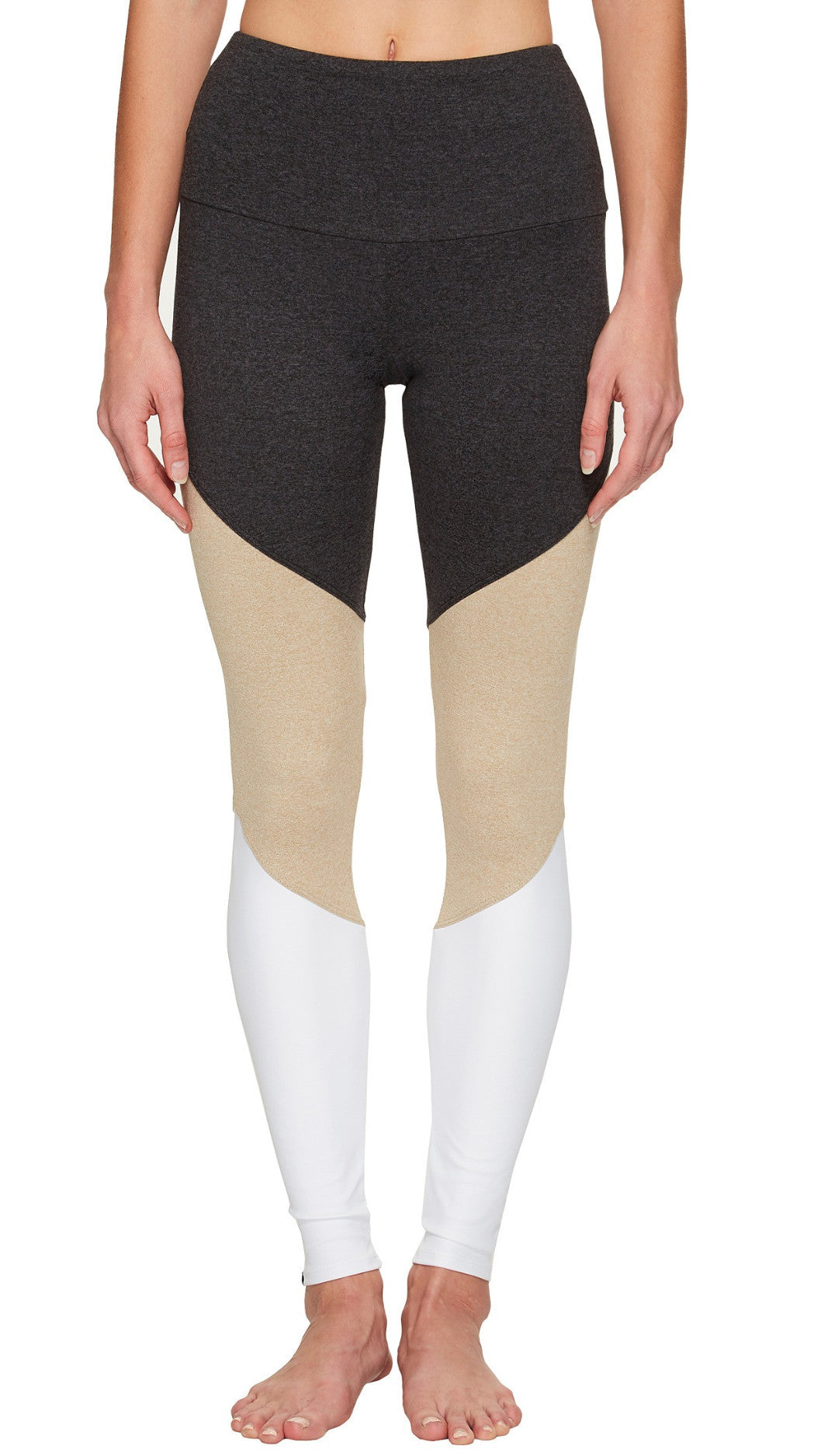 e24f1edf80c88 Onzie High Rise Track Legging Taupe Combo – Bliss Bandits