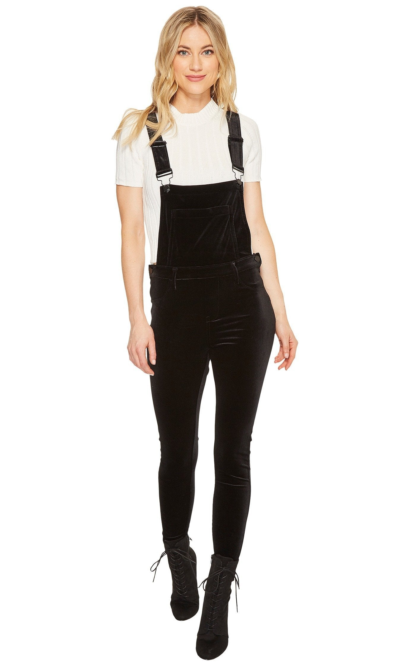 408f5d78d5 Blank NYC New Black Velour Overalls – Bliss Bandits