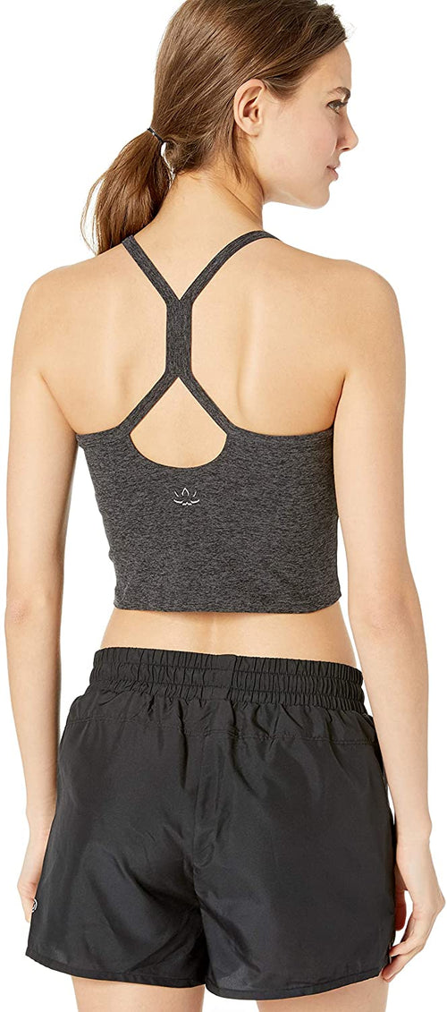 Beyond Yoga Slim Racerback Cropped Tank Charcoal