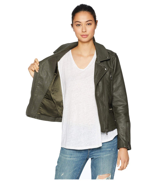 Blank NYC Merry Jane Vegan Leather Moto Jacket