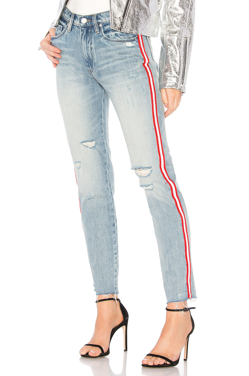Blank NYC Now or Never Stripe High Rise Jeans