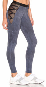 Blue Life Fit Garter Legging Graphite Wash