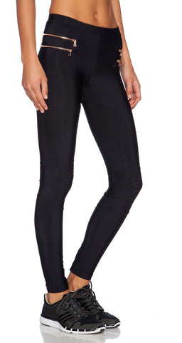 Blue Life Fit Zipper Moto Legging