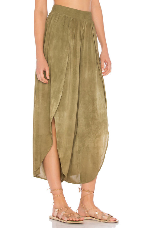 Blue Life Jeanne Wrap Culotte Pants Spanish Olive