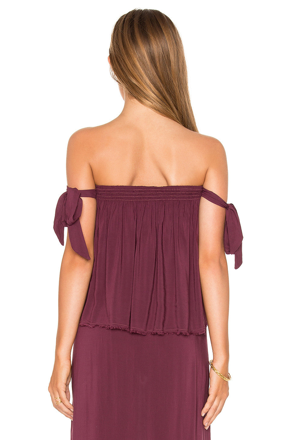 Blue Life Venus Tie Sleeve Top Wild Berry