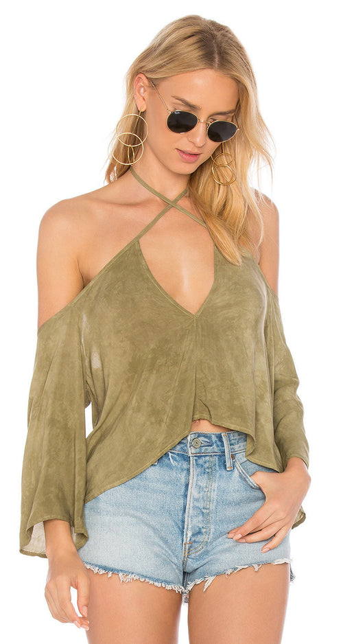 Blue Life Sophia Top Spanish Olive
